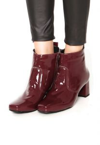 Bota DAFITI SHOES Verniz Vinho DAFITI SHOES