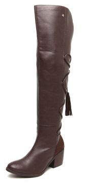 Bota Over The Knee Cravo & Canela Tassel Marrom Cravo & Can