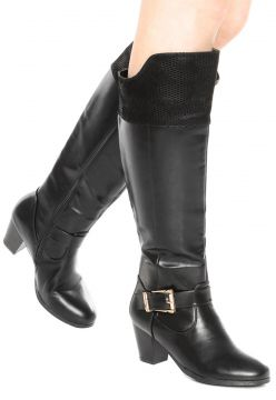 Bota Mooncity Over Knee Preto Mooncity