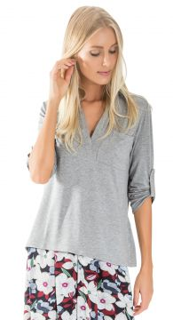 Camisa Manga Longa Lucy in The Sky Pocket Mescla Lucy in Th