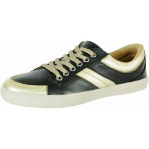 Sapatênis Doctor Shoes Comfort 1326 Preto / Ouro Doctor Sho