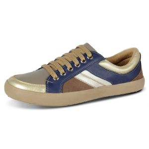 Sapatênis Doctor Shoes Comfort 1326 Royal/Ouro/Tabaco/Café