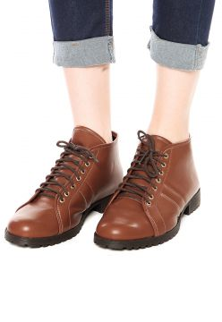 Bota DAFITI SHOES Cano Curto Caramelo DAFITI SHOES