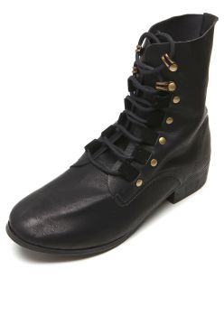 Bota Coturno DAFITI SHOES Tachas Preta DAFITI SHOES