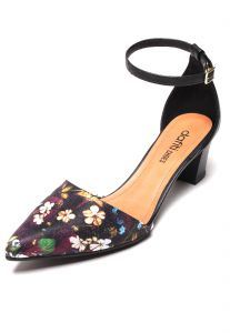 Scarpin DAFITI SHOES Floral Preto DAFITI SHOES