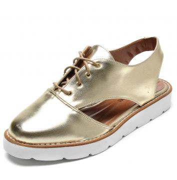 Oxford DAFITI SHOES Metalizado Dourado DAFITI SHOES