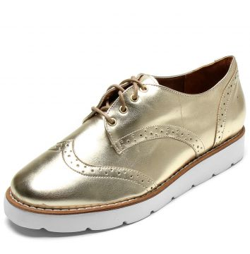 Oxford DAFITI SHOES Wingtip Dourado DAFITI SHOES