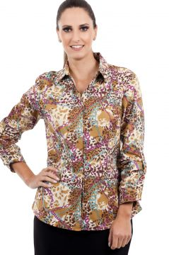 Camisa Love Poetry Estampada Dourada Love Poetry