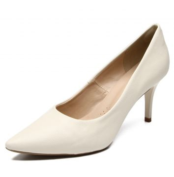 Scarpin DAFITI SHOES Bico Fino Branco DAFITI SHOES