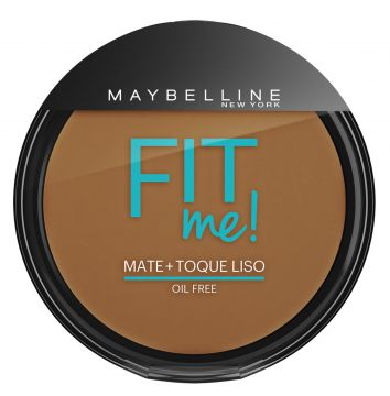 Pó Compacto Fit Me Escuro Original 300 Maybelline 45g Maybe