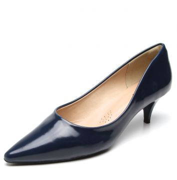 Scarpin DAFITI SHOES Salto Baixo Azul DAFITI SHOES