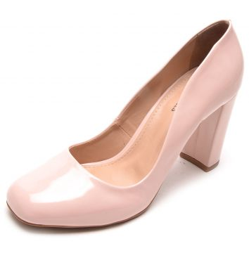 Scarpin DAFITI SHOES Bico Quadrado Rosa DAFITI SHOES