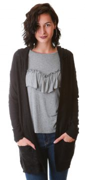 Maxi Absolut Cardigan Flamê Preto Absolutti
