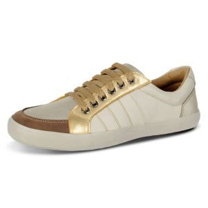 Sapatênis Doctor Shoes Comfort 1325 Ice/Champagne/Ouro/Café