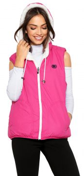 Colete Polo Wear Dupla Face Bordado Rosa/Branco Polo Wear