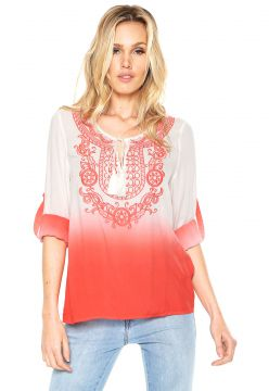 Blusa Anany Degradê Bege/Coral Anany