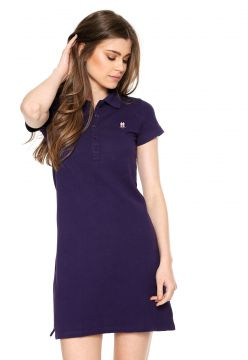 Vestido Polo Wear Bordado Roxo Polo Wear