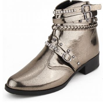 Bota Country DAFITI SHOES Tiras Prata Velha DAFITI SHOES