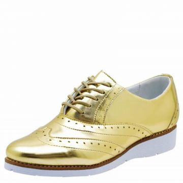Oxford DR Shoes Casual Dourado DR Shoes
