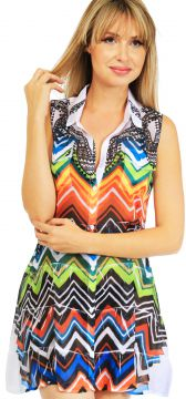 Vestido Chemise 101 Resort Wear Estampado 101 Resort Wear