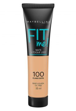 Base Maybelline Fit Me 100 Claro Sutil 35ml Maybelline