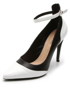 Scarpin DAFITI SHOES Bicolor Branco DAFITI SHOES