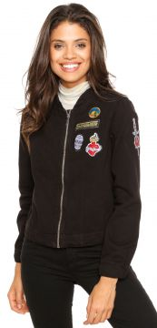 Jaqueta Bomber Sommer Patch Preta Sommer