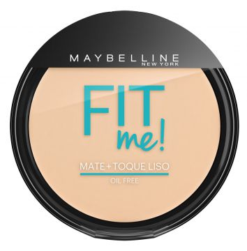 Pó Compacto Fit Me Claro Sútil 100 Maybelline 45g Maybellin