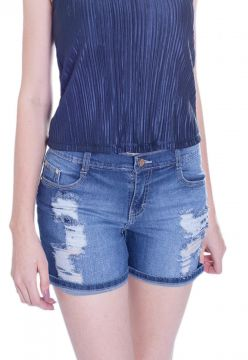 Short Gup s Jeans Rasgos Jeans Azul Gup s Jeans