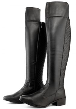 Bota Over The Knee Cano Longo Dona Beja Preto Dona Beja