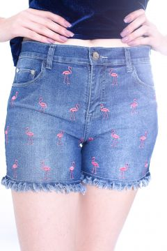 Short Gup s Jeans Flamingos Jeans Azul Gup s Jeans