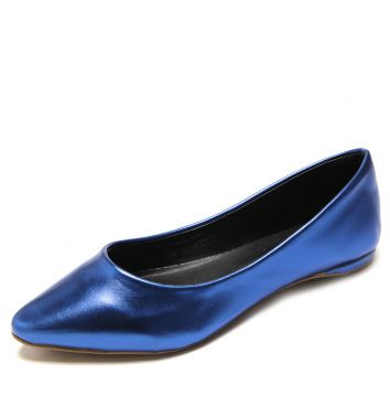 Sapatilha DAFITI SHOES Bico Fino Azul DAFITI SHOES