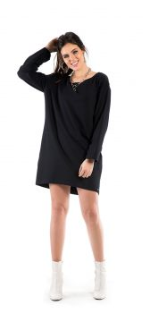 Vestido Mullet Walk Trendy Casual Preto Walk Trendy
