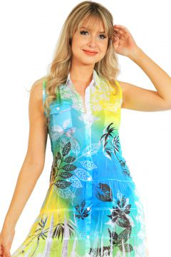 Vestido Chemise 101 Resort Wear Azul 101 Resort Wear