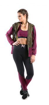 Jaqueta Walk Trendy Fitness Militar Rosa Walk Trendy