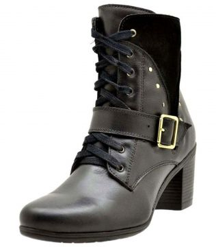 Ankle Boot Atron Legítmo Preto Atron Shoes