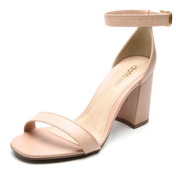 Sandália DAFITI SHOES Salto Alto Nude DAFITI SHOES
