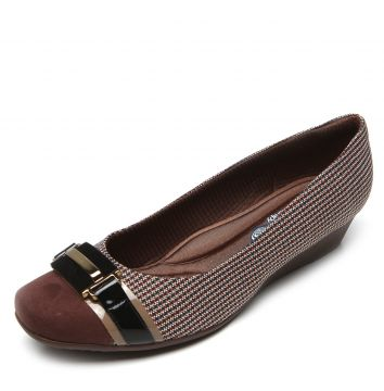 Scarpin Picadilly Anabela Marrom Piccadilly