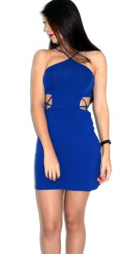 Vestido Up Side Wear Decotado Azul Up Side Wear