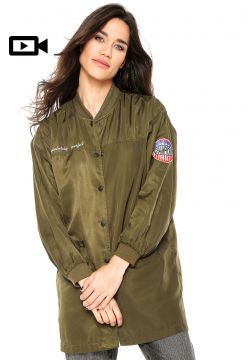 Jaqueta Bomber Anany Patches Verde Anany