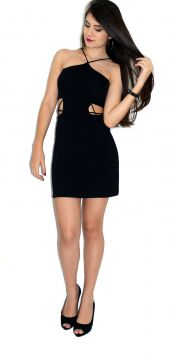 Vestido Up Side Wear Decotado Preto Up Side Wear