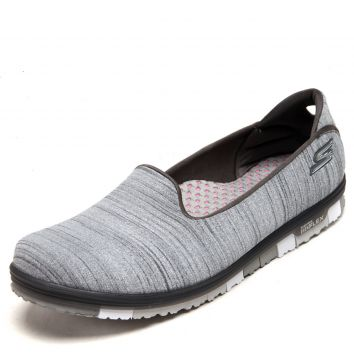 Tênis Skechers Go Flex Walk Mini Cinza Skechers
