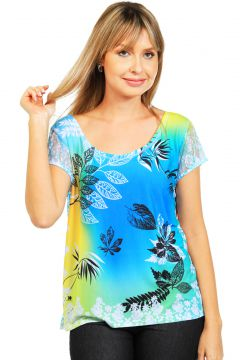 Blusa 101 Resort Wear Estampada 101 Resort Wear