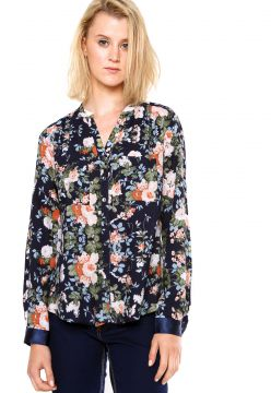 Camisa Love Poetry Floral Marinho Love Poetry