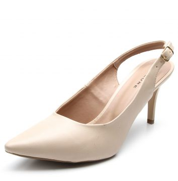 Scarpin Thelure Slingback Bege Thelure