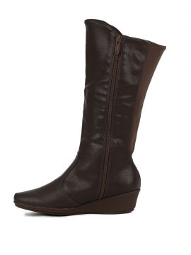 Bota Anabela Piccadilly Marrom Piccadilly
