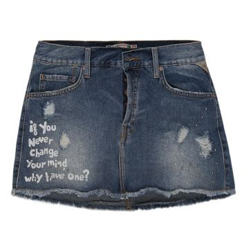 Saia Mini Jeans Khelf Tachas Change Your Mind Khelf