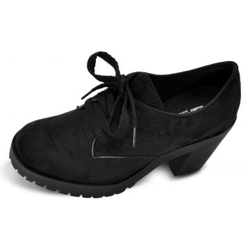 Oxford CR Shoes Salto Tratorado Preto CR Shoes