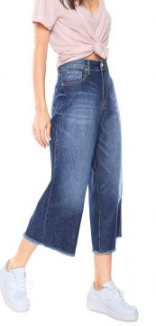 Calça Jeans Zoomp Cropped Beatrice Azul Zoomp