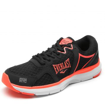 Tênis Everlast Fox Preto/Rosa Everlast